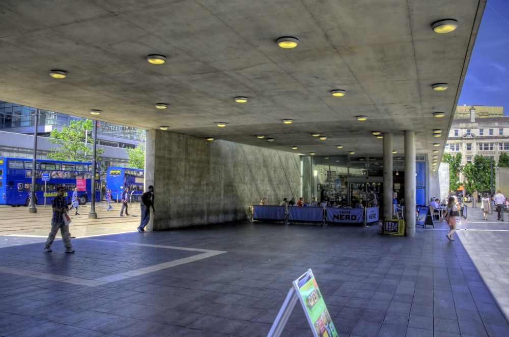 Tadao Ando's soon-to-be-demolished Piccadilly Gardens. Image: Wojtek Gurak via Flickr