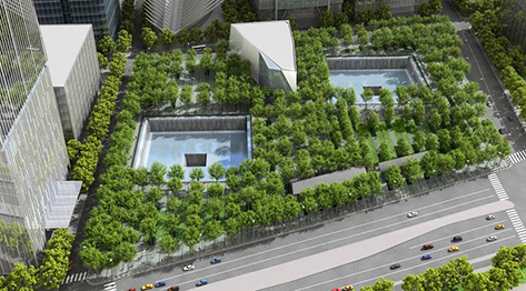 9-11 Memorial. Photo is courtesy of PWP Landscape Architecture.