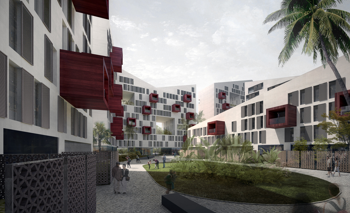 AQSO arquitectos office. Connecting riads. Courtyard