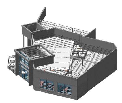 REVIT/BIM model for McCormick & Schmick's