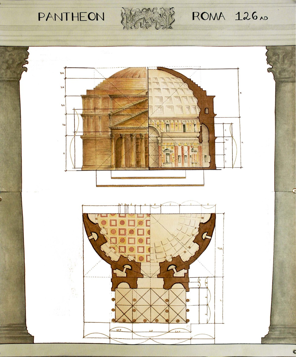 Harmonic Proportions Study, The Pantheon