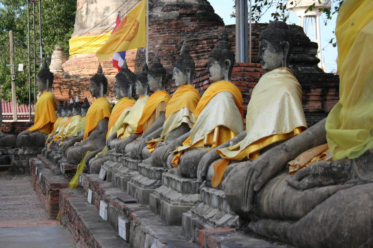 Wat Yai Chai Mongkol in Thailand. Image courtesy of Pomeroy Studios.