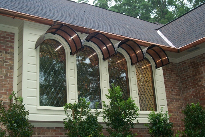 Custom Copper Awnings and Overhangs for Entryways   Joel