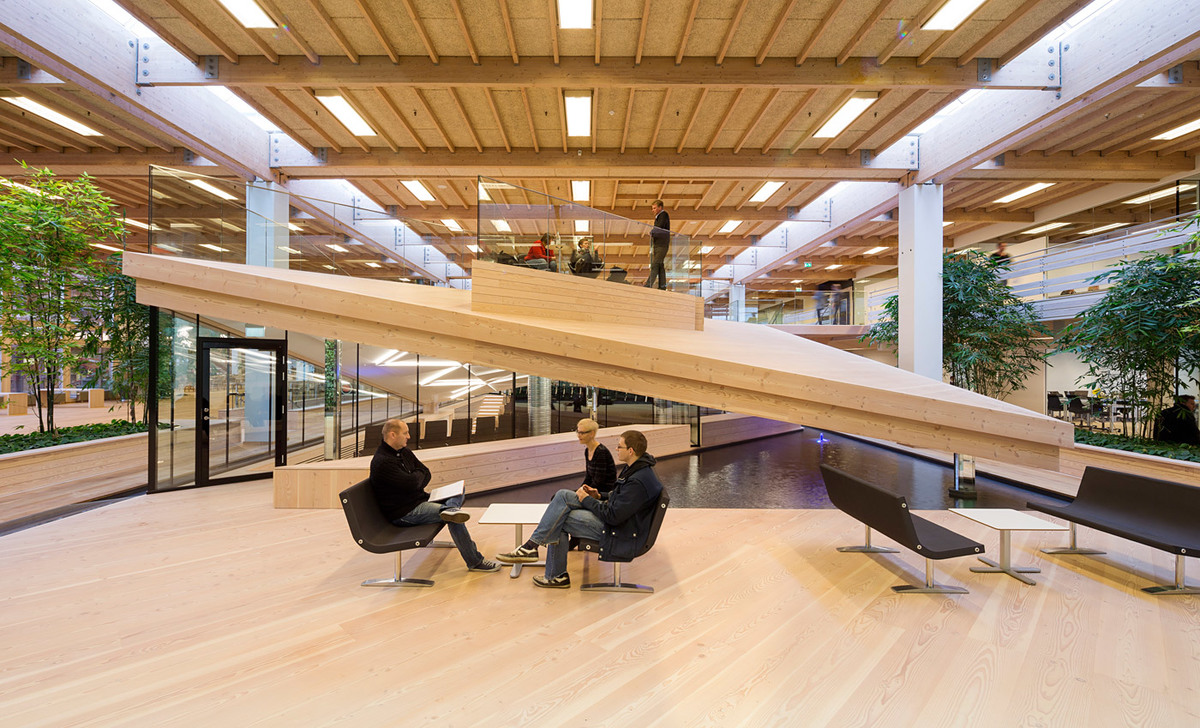 Interior of the new International Business College (IBC) Innovation Factory, designed by schmidt hammer lassen architects