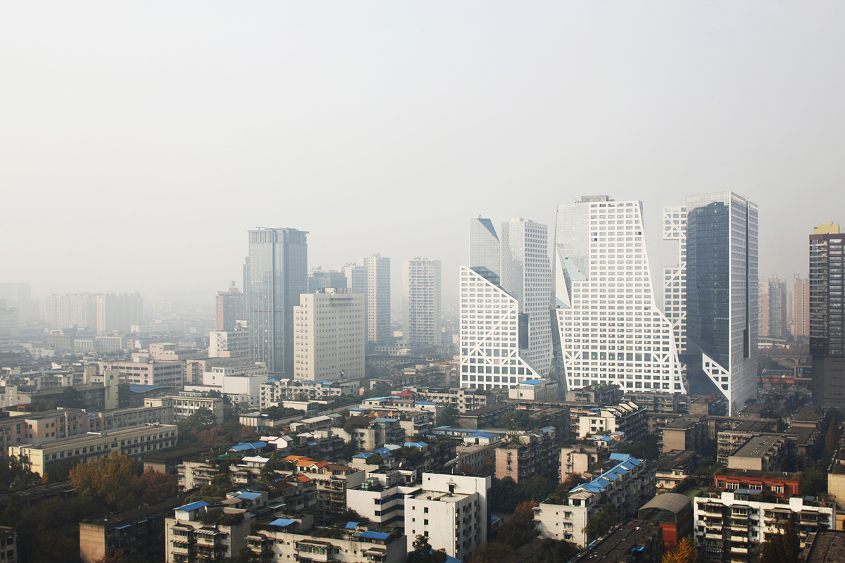 Finalist - Asia & Australasia: Sliced Porosity Block, Chengdu, China by Steven Holl Architects © Shu He