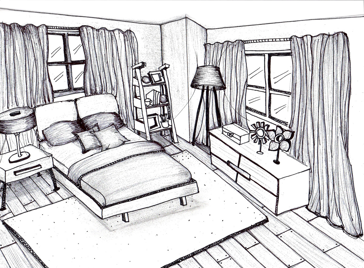 Rough skteches patricia alvarenga archinect for Bedroom designs sketch