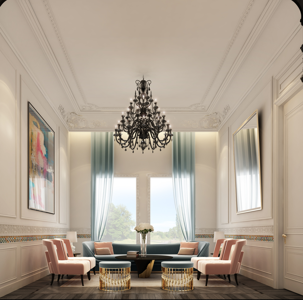 Trendy And Timeless Sitting Room Design