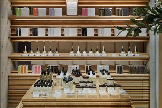 custom built-in display shelves