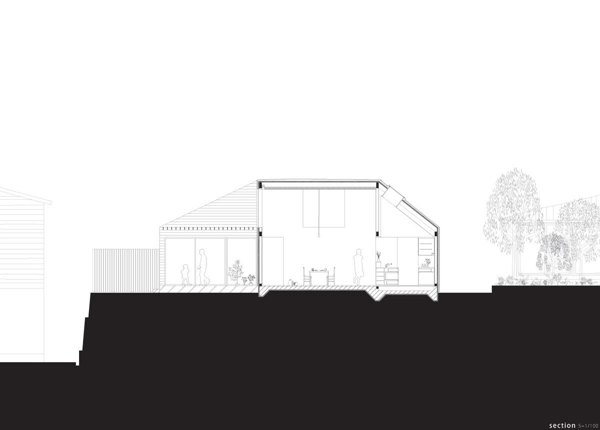 Section (Image: Kazuya Saito Architects)