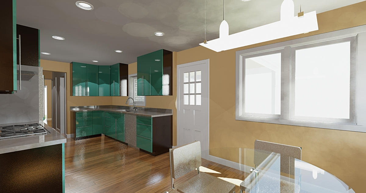 Kitchen Rendering (Revit and 3d Max)