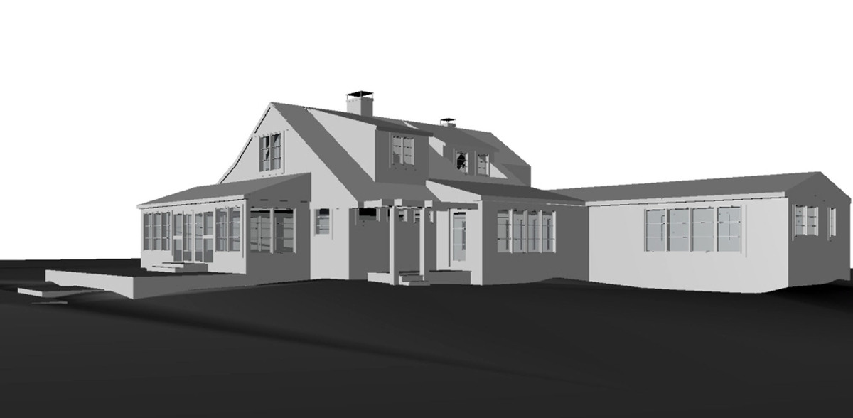 Rendering of the house done on Rhino