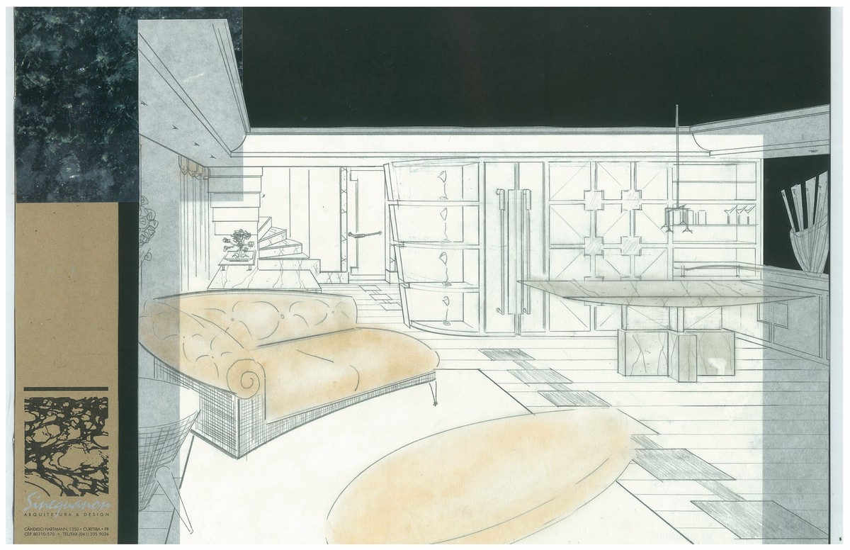 Penthouse Addition | Interior Hand-Sketch
