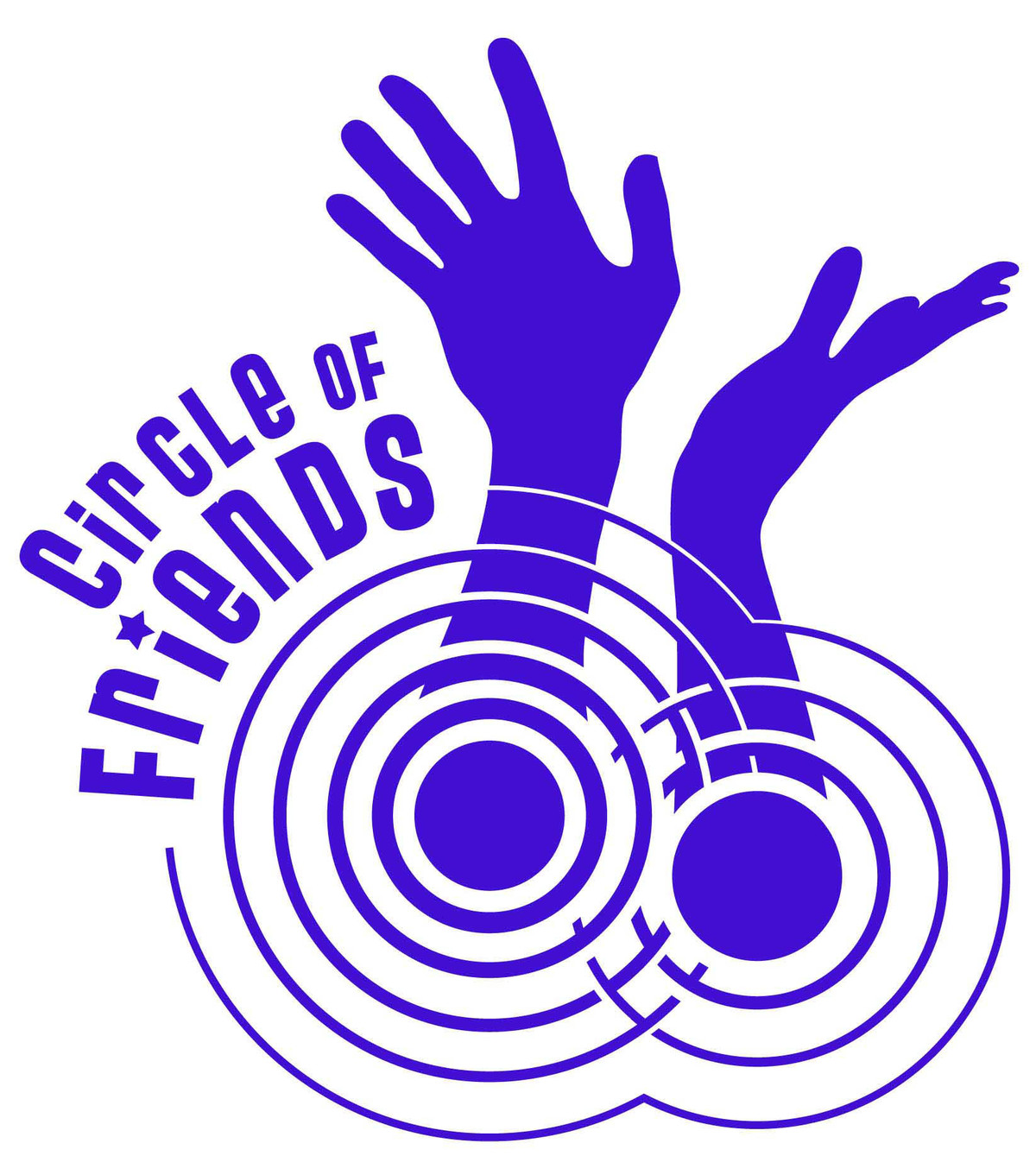 This piece is a logo design for the Circle of Friends charity organization.