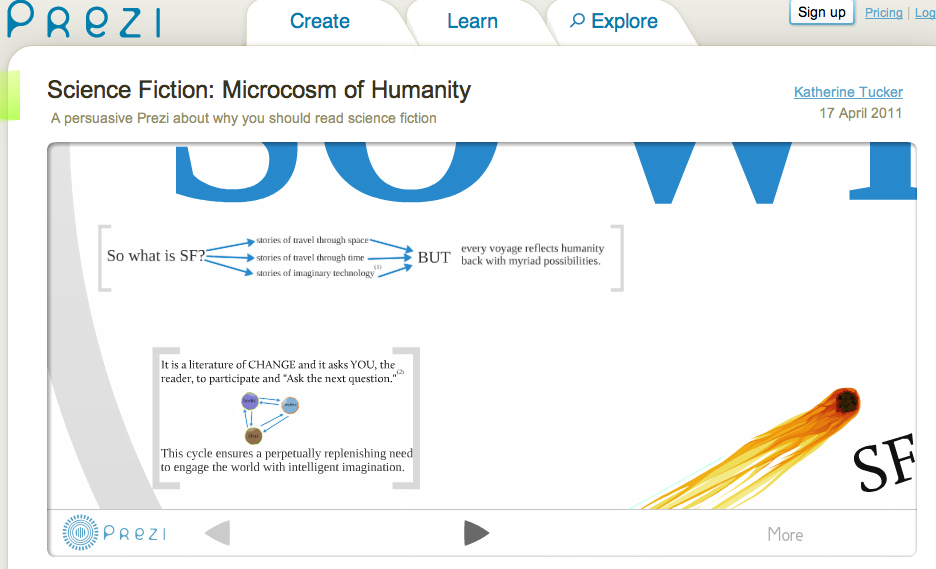 Screenshot from the Prezi