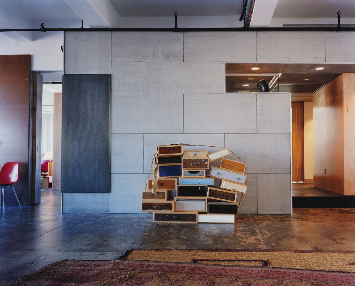 Box construction by Droog Design through Moss inside Loft of Frank and Amy in New York, NY by Resolution: 4 Architecture