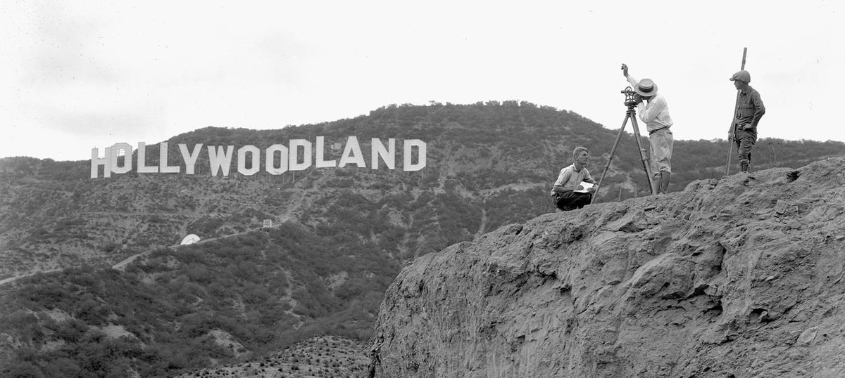 Original Hollywoodland sign. Image: Hollywood Chamber of Commerce