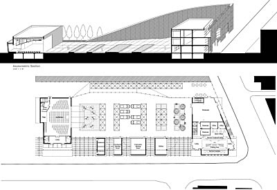 Plan and Axonometric Section drawn in AutoCAD