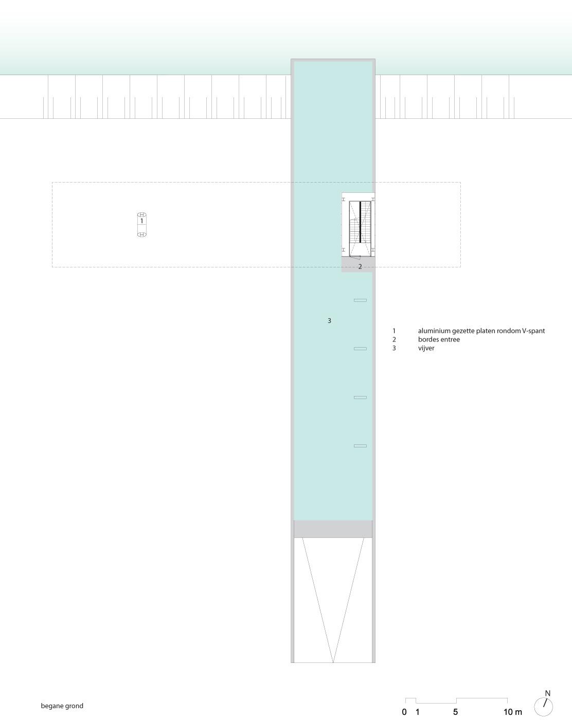 Floor plan, ground floor. Image courtesy of Paul de Ruiter Architects