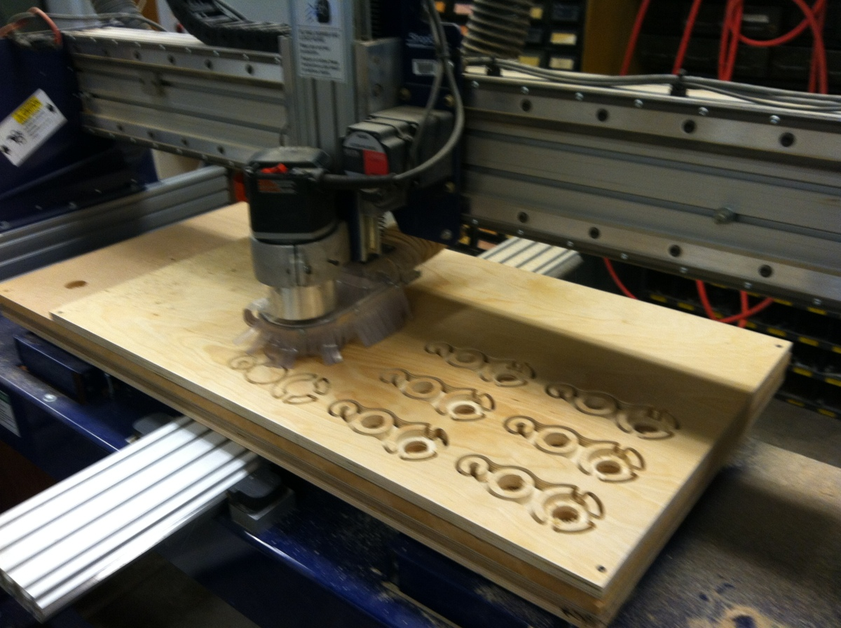 CNC shop bot piece cut