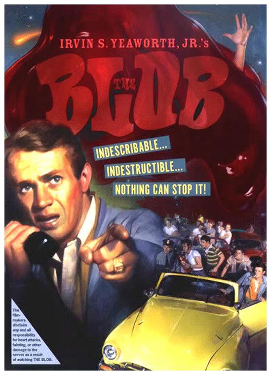 The Blob movie poster, via proartz.blogspot.com.