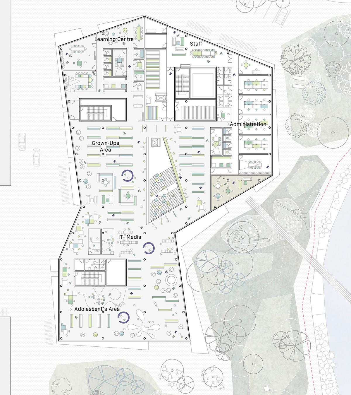 First floor plan (Image: schmidt hammer lassen architects)