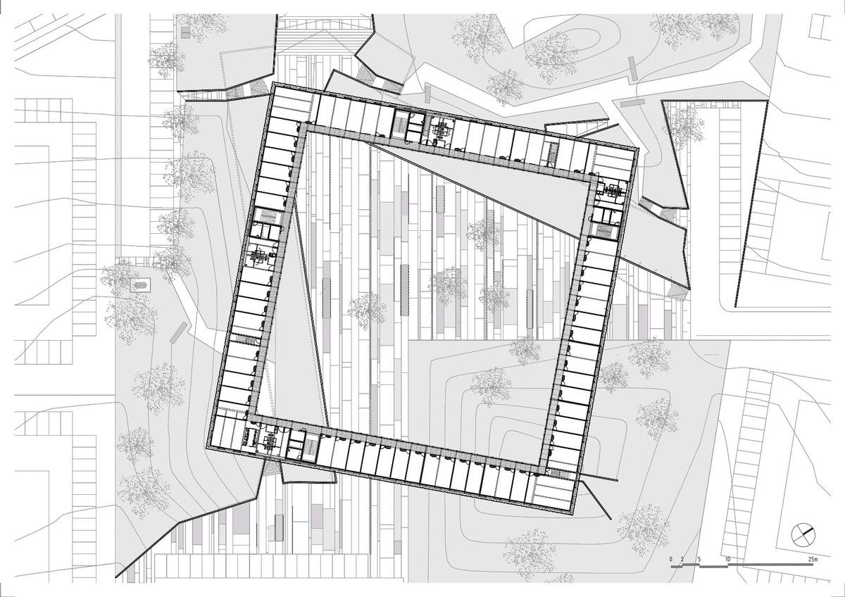 Second floor plan, courtesy of Jorge Mealha