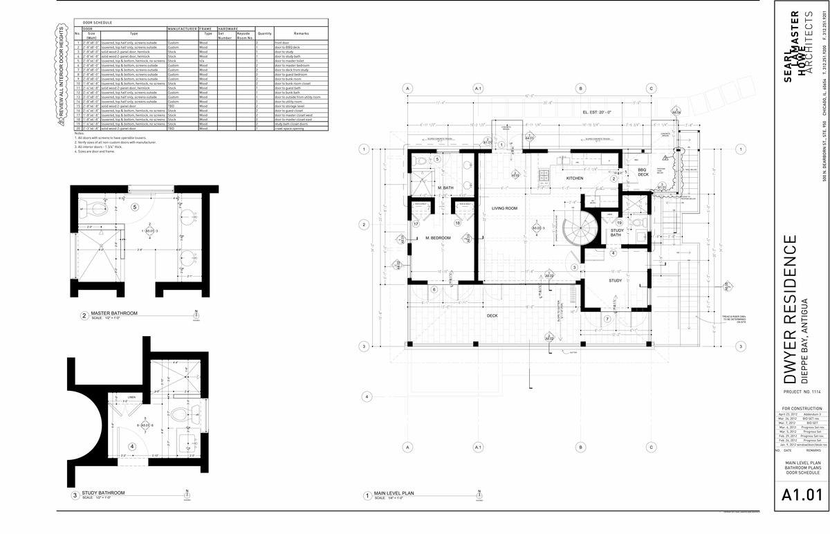 Dwyer Residence - Main Level Plan