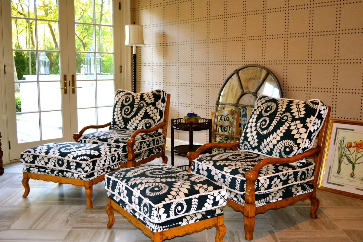 Sun Room, Reupholstered Chairs