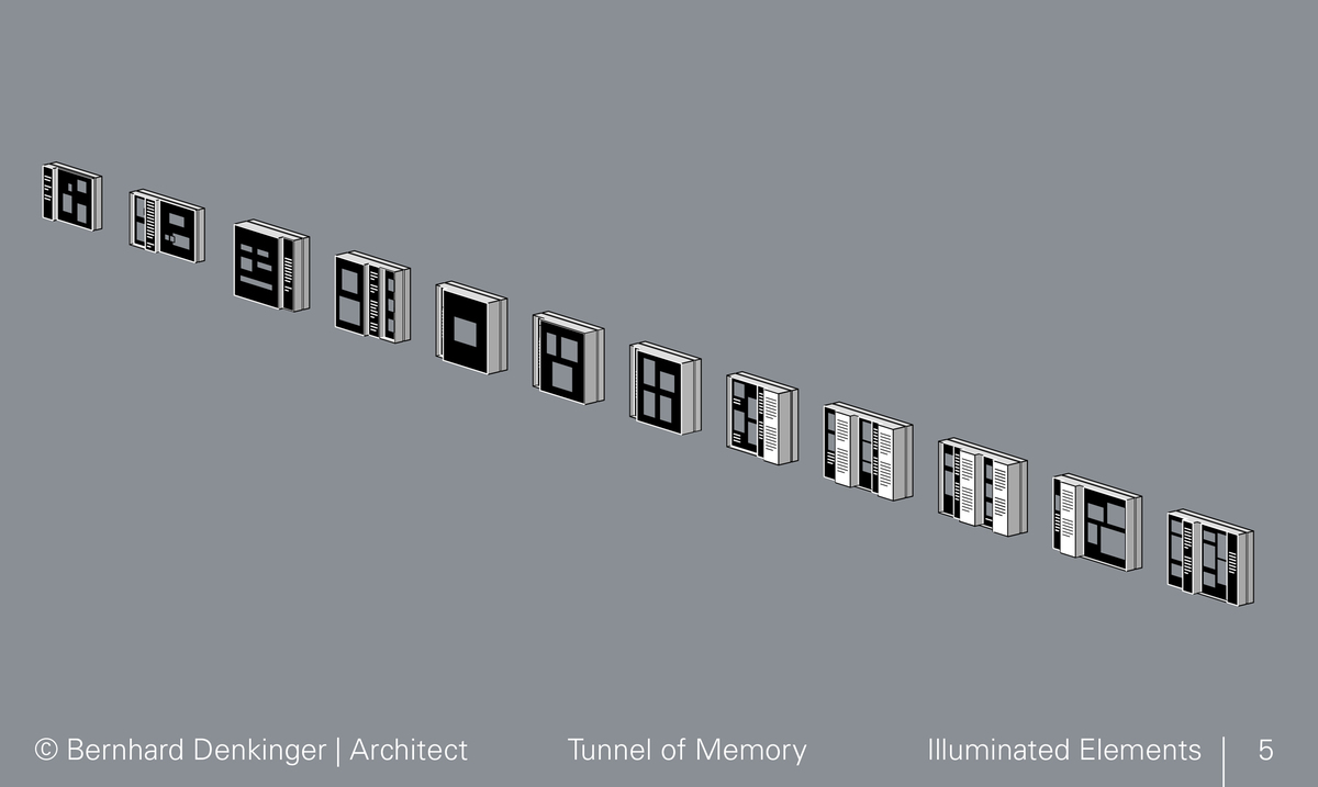 Overwiew of illuminated elements, modified to give different emphasis.