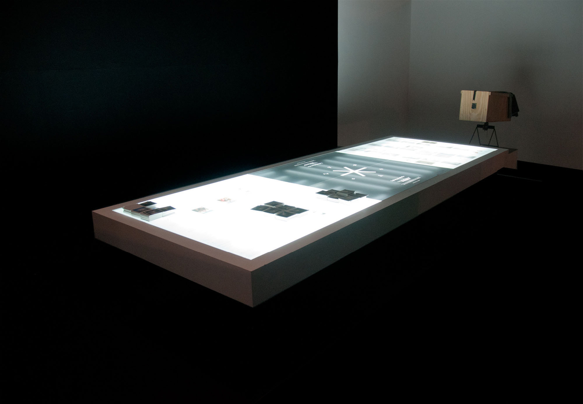 Table and camera obscura on exhibit in Gwangju