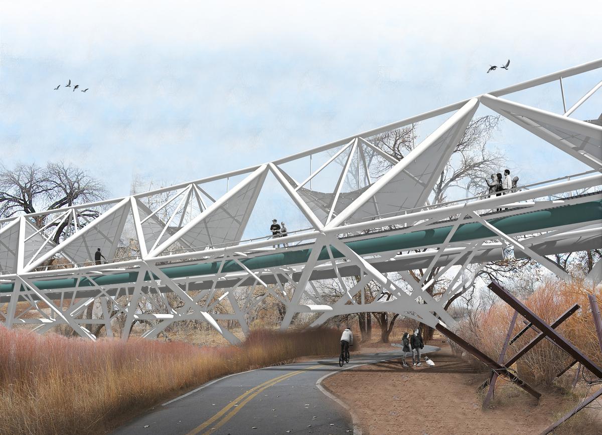 View from below the bridge