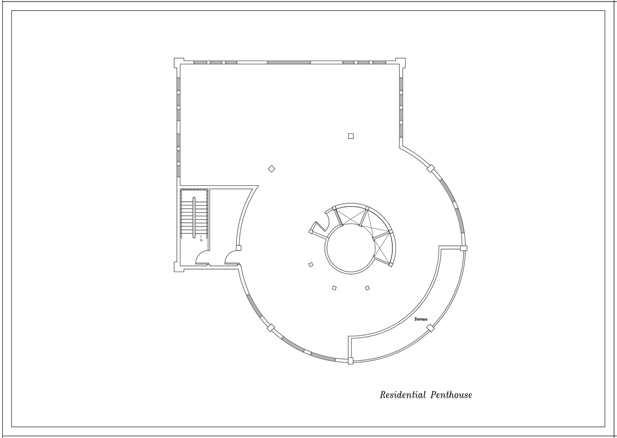 Typical Penthouse Floor Plan