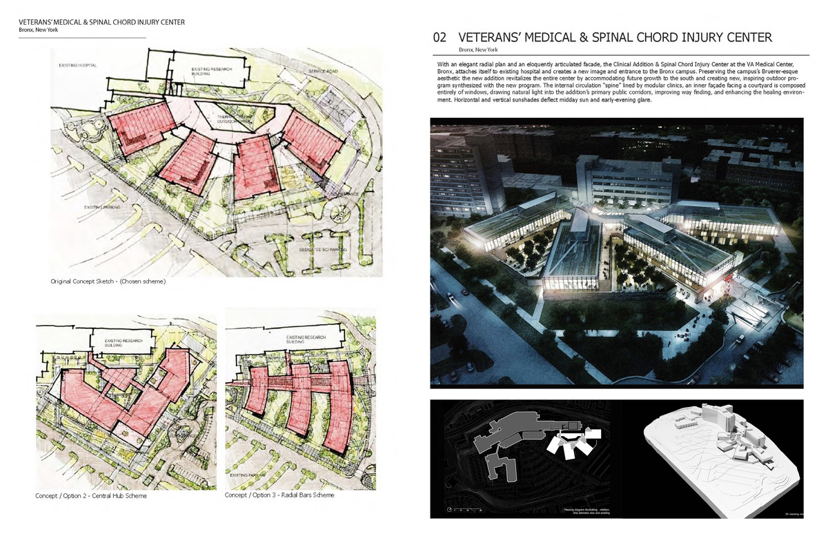 VA Bronx, National Spinal Chord Injury Center  80,000 SF Veterans Affairs Healthcare Facility Project Team - RDrury while at Cannon Design