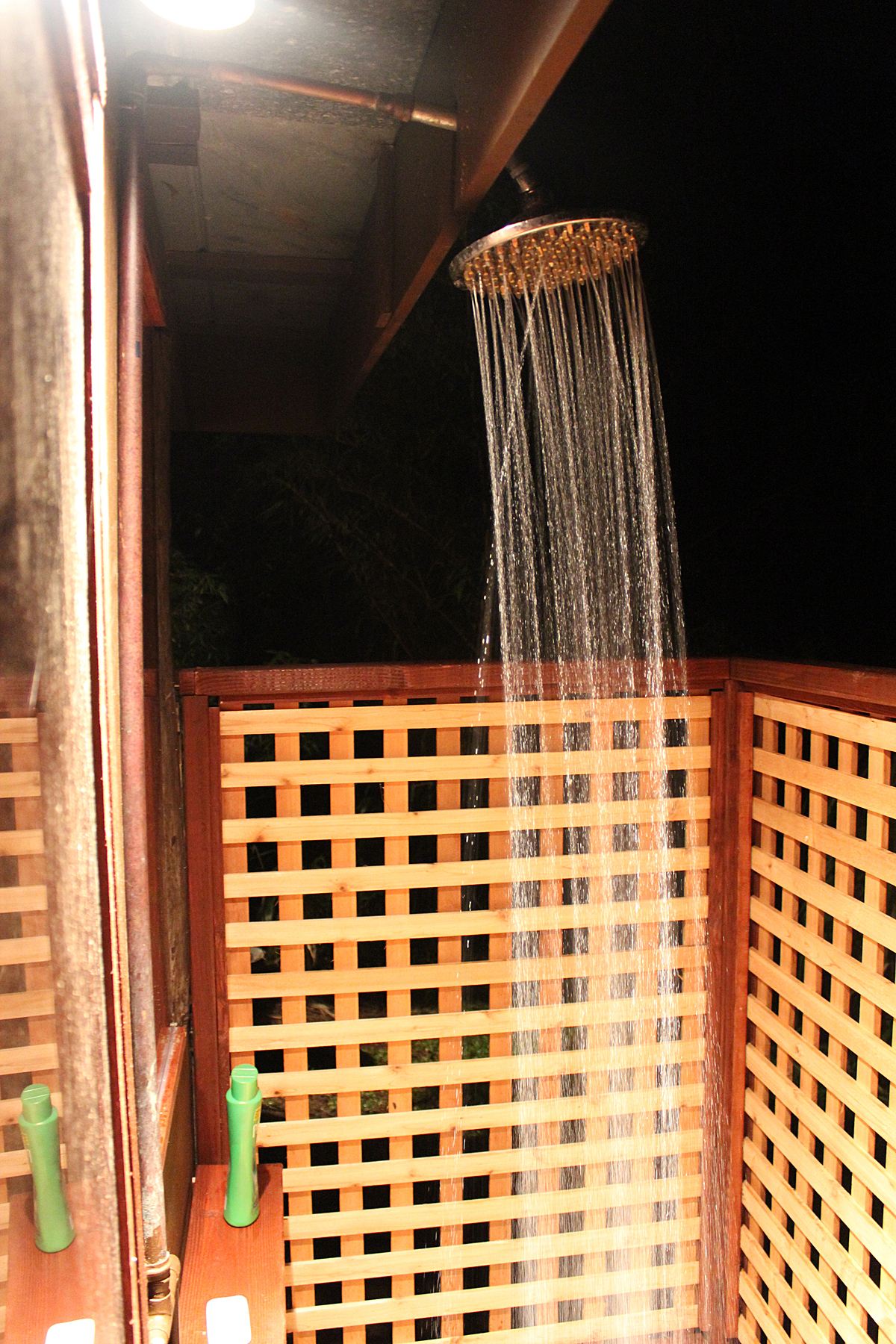 View of the shower