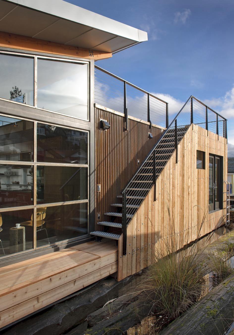 Portage Bay Floating Home in Seattle, WA by Kim Mankoski/Ninebark Design Build LLC