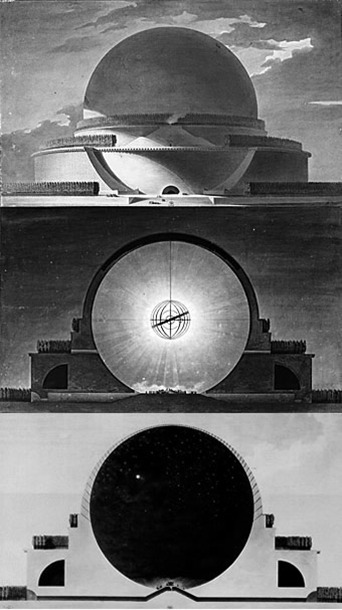 Étienne-Louis Boullée. Newtons Cenotaph. (proposed, never built) via gv2229