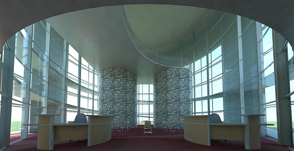 Library Main Entrance Interior