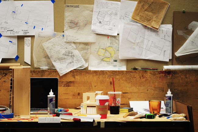 Justin's desk via design_buildLAB
