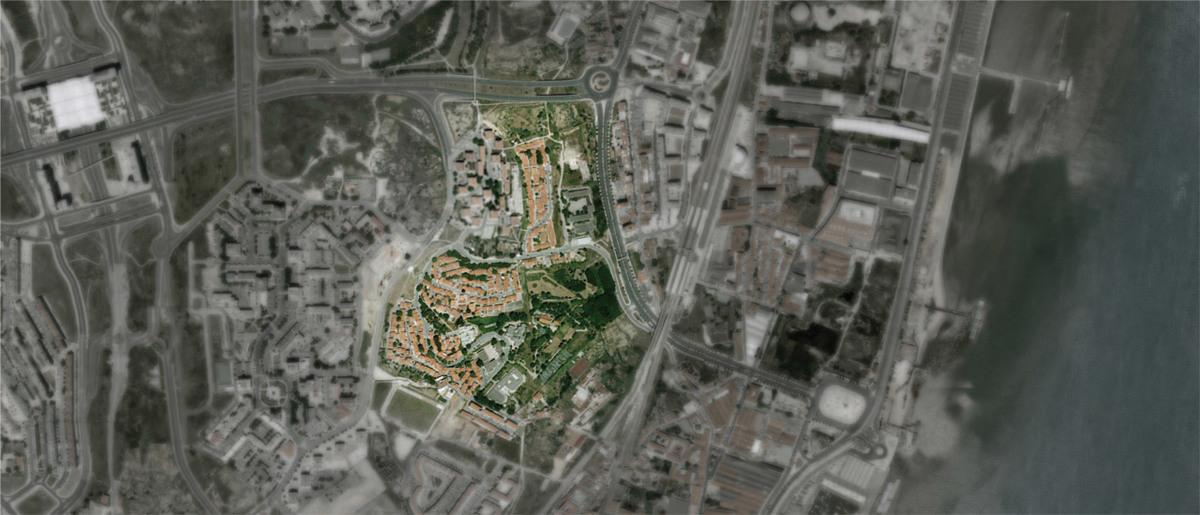 Aerial photo of the PRODAC neighborhood (Image: ateliermob)
