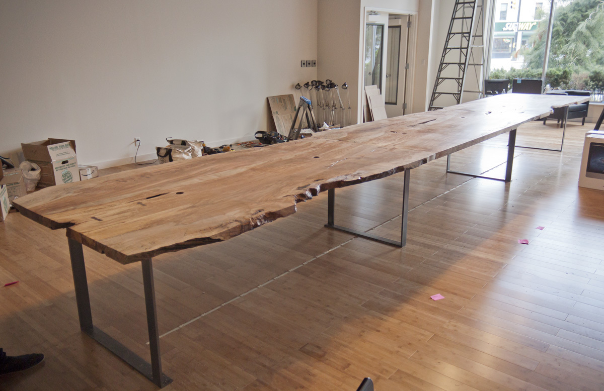 24 Ft Spalted Maple Live Edge Conference Table | Michael Wong ...