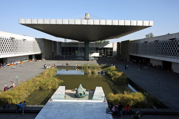 The Museum of Anthropology in Mexico City is one of the signature works of architect Pedro Ramirez Vazquez, who died April 16 at 94. (Gregory Payan / Associated Press)