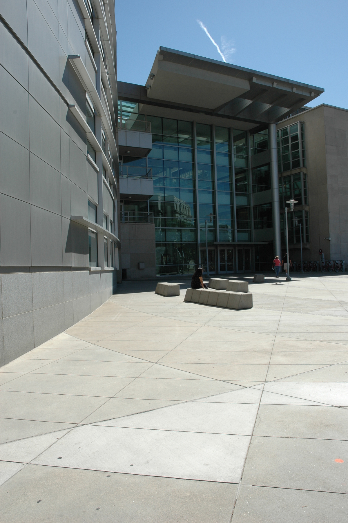 Main entrance, facing Civic Center Park