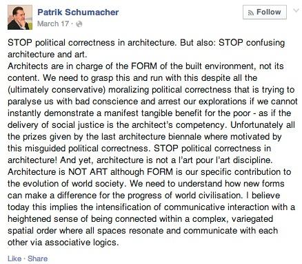 Screenshot of Schumachers Facebook post.