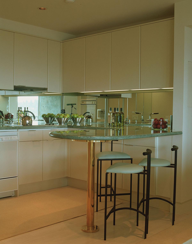The mini kitchen.