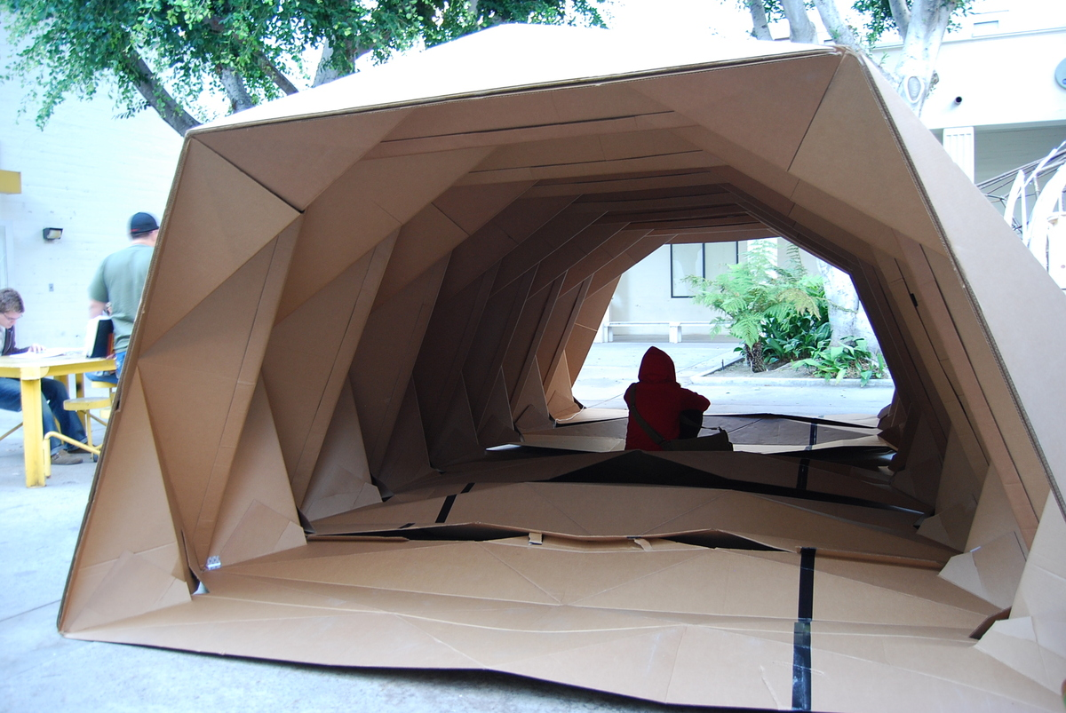 Portable Homeless Shelters Design : Cardborigami instant space tina hovsepian aia archinect