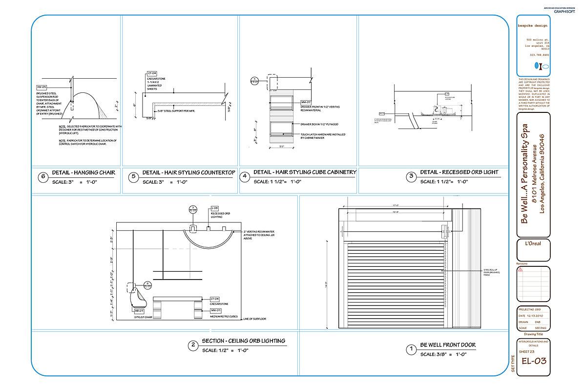 EL-03 Interior Elevations + Details