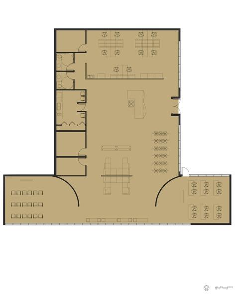 Progression Meeting Space Floor Plan: AutoCAD, Adobe Photoshop