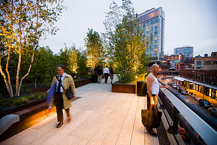 High Line Park shortly after it opened