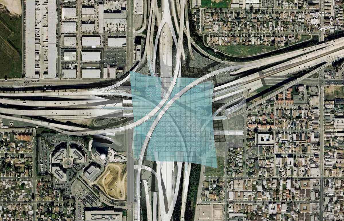 Site Plan of the 405 and 105 Freeway Interchange