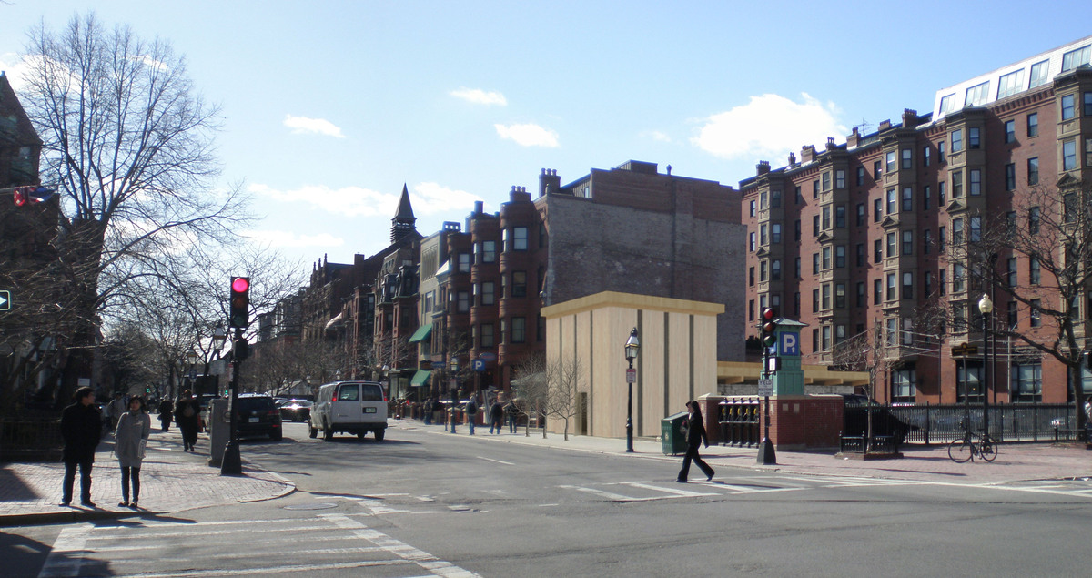 image of building around it's context on Newbury Street